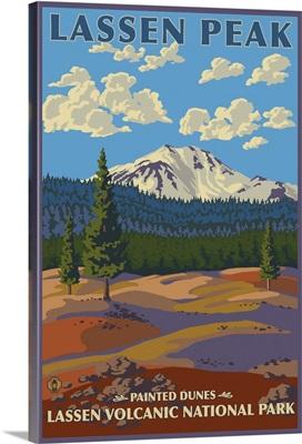 Painted Dunes - Lassen Volcanic National Park, CA: Retro Travel Poster