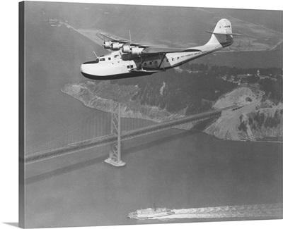 Pan American-Philippine Martin Clipper over San Francisco, california