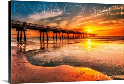 Panama City Beach, Florida, Pier and Sunset