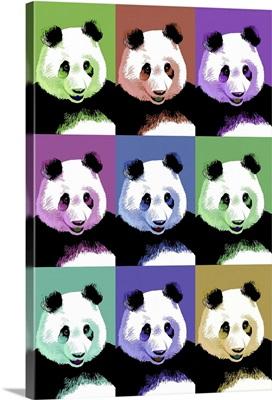 Panda Pop Art - Visit the Zoo: Retro Travel Poster