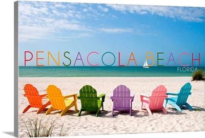 Pensacola Beach, Florida, Colorful Beach Chairs