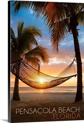 Pensacola Beach, Florida, Hammock and Sunset