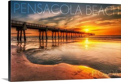 Pensacola Beach, Florida, Pier and Sunset