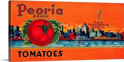 Peoria Tomato Label, Peoria, IL