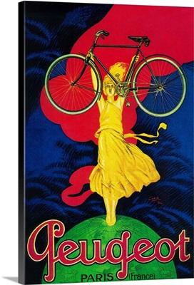 Peugeot Bicycle Vintage Poster, Europe