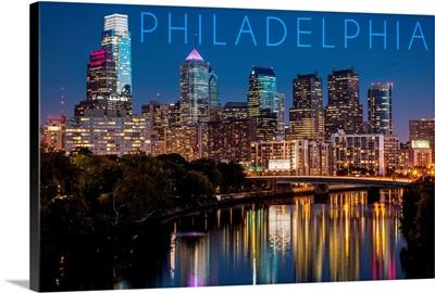 Philadelphia, Pennsylvania, Skyline at Night