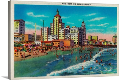 Pike Front and Bathing Beach, Long Beach, CA