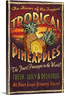Pineapple, Vintage Sign