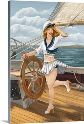 Pinup Girl Sailing