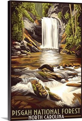 Pisgah National Forest - North Carolina: Retro Travel Poster