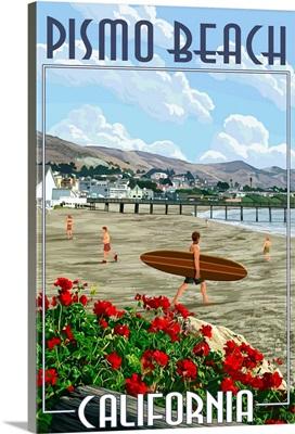Pismo Beach, California, Beach and Pier Scene