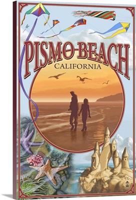 Pismo Beach, California Views: Retro Travel Poster