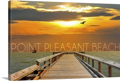 Point Pleasant Beach, New Jersey, Pier at Sunset