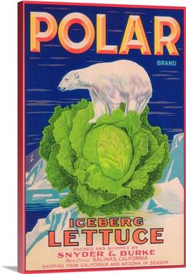 Polar Lettuce Label, Salinas, CA