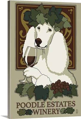 Poodle, Retro Winery Ad