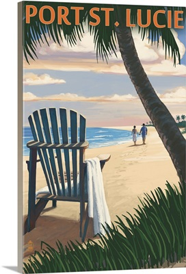 Port St. Lucie, Florida, Adirondack Chair on the Beach