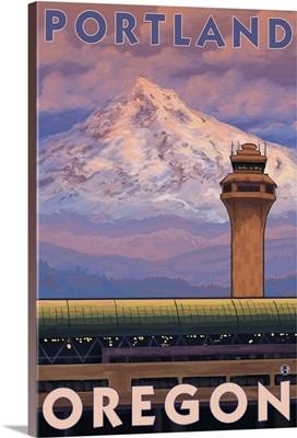 Portland, OR Airport: Retro Travel Poster