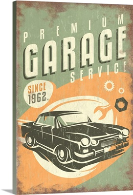 Premium Garage Service, Vintage Sign