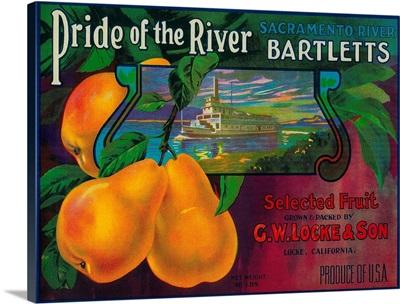 Pride of the River Pear Crate Label, Locke, CA
