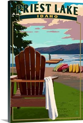 Priest Lake, Idaho, Chairs and Lake