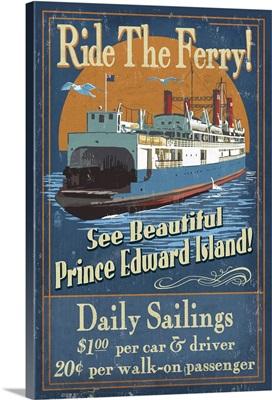 Prince Edward Island, Ferry Vintage Sign