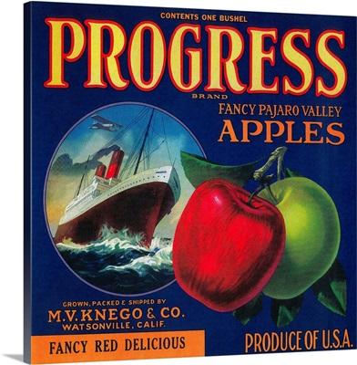 Progress Apple Crate Label, Watsonville, CA
