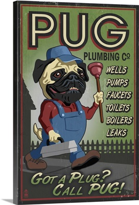 Pug, Retro Plumbing Ad