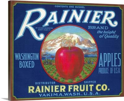 Rainier Apple Label, Yakima, WA