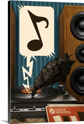 Raven and Record Player
