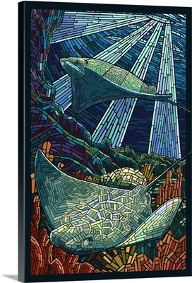 Rays - Paper Mosaic: Retro Poster Art