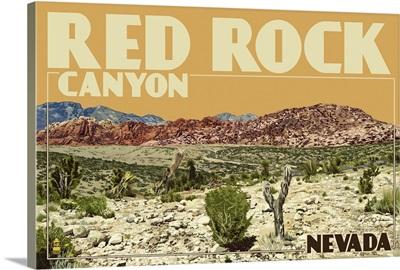 Red Rock Canyon - Las Vegas, Nevada: Retro Travel Poster