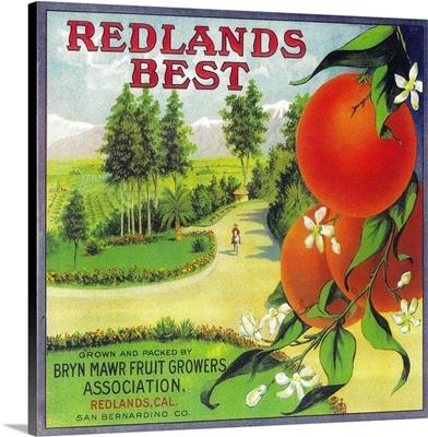 Redlands Best Orange Label, Redlands, CA