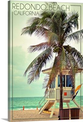 Redondo Beach, California, Lifeguard Shack and Palm