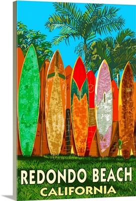 Redondo Beach, California, Surfboard Fence