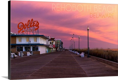 Rehoboth Beach, Delaware, Dolles and Sunset