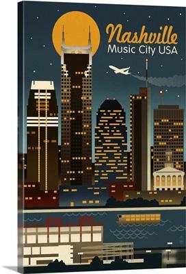 Retro Skyline, Nashville, Tennessee