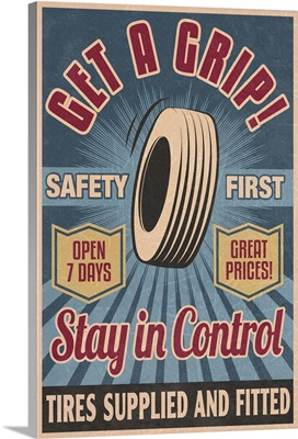 Retro Tire Ad, Vintage Sign
