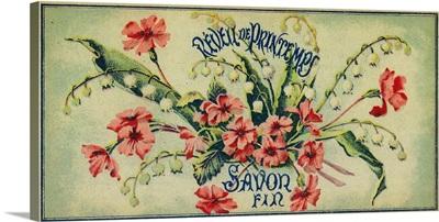 Reveil De Printemps Soap Label, Paris, France