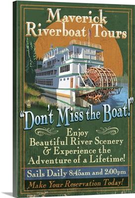 Riverboat, Vintage Sign