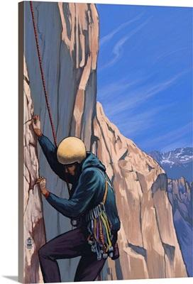 Rock Climber: Retro Poster Art