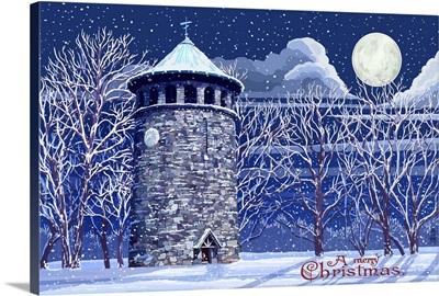 Rockford Tower Snow Scene - Wilmington, Delaware