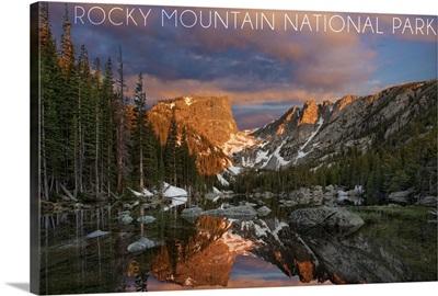 Rocky Mountain National Park, Colorado, Dream Lake Sunset