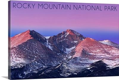 Rocky Mountain National Park, Colorado, Purple Sky and Snowy Peaks