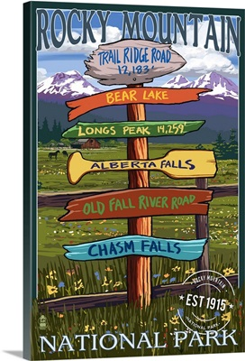 Rocky Mountain National Park, Colorado, Sign Destinations, Rubber Stamp