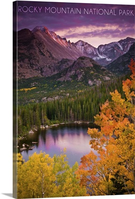Rocky Mountain National Park, Colorado, Sunset and Lake