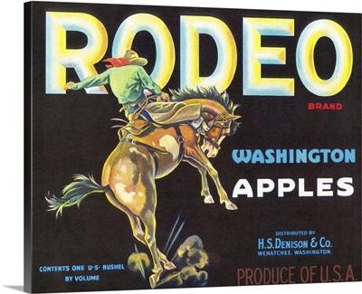 Rodeo Apple Label, Wenatchee, WA