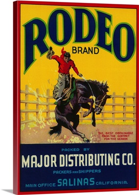 Rodeo Vegetable Label, Salinas, CA