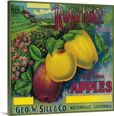 Rose Hill Apple Crate Label, Watsonville, CA
