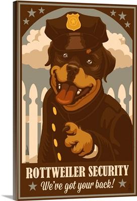 Rottweiler, Retro Security Ad
