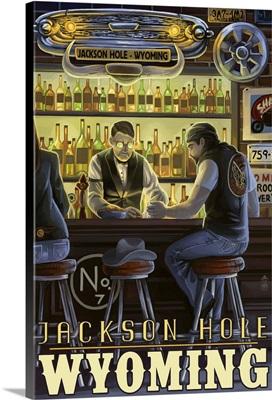 Saloon Scene, Jackson Hole, Wyoming